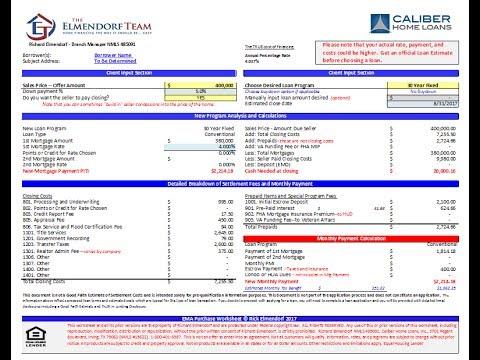 mortgage qualification worksheet