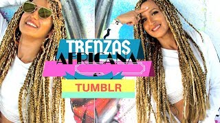 TRUCO para Hacer Trenzas Africanas paso a paso♥️ Peinado p…