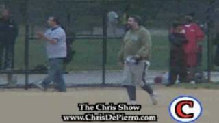"""Artie Lange Falls Playing Softball - Real Life """"Beer League"""""""