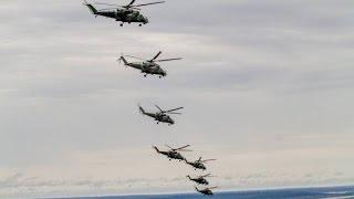 Переброска техники. Вертолеты в Севастополе. Российские военные вертолеты летят в Крым. Бельбек.