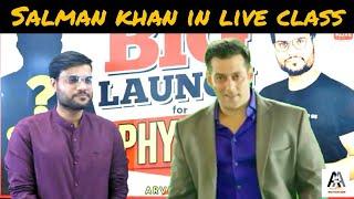 Salman khan in live class Arvind arora sir    A2 motivation funny video
