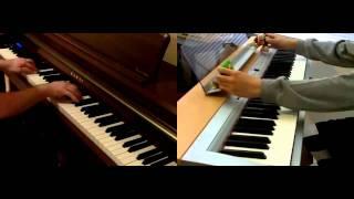 Super Smash Bros. Brawl Main Theme on 2 pianos (duet with Zorsy)