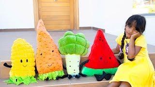 BIA LOBO PRETEND PLAY FRUITS & VEGETABLES / COME ALIMENTOS SAUDÁVEIS