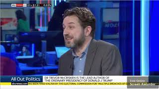Dr Trevor McCrisken discusses 'The Ordinary Presidency of Donald J. Trump' on Sky News