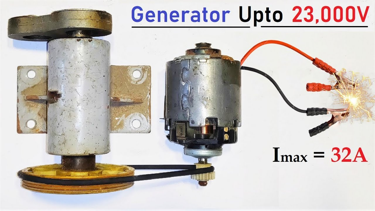 12V 32 Amps DC Motor to 220v Electric Dynamo Generator - High Current Motor  Generator