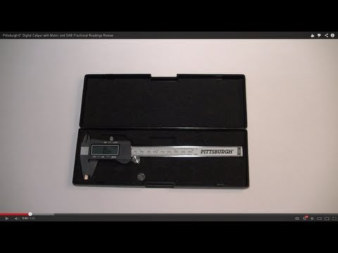 """Pittsburgh 6"""" Digital Caliper with Metric and SAE Fractional Readings Review"""