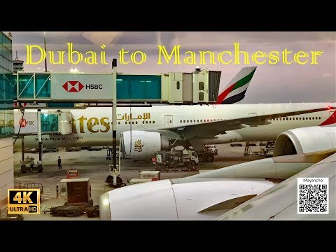 Trip Report| Emirates Airbus A380, Dubai To Manchester, Economy Class, December 2019 In 4K