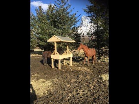 Building a horse hay feeder - Simple build
