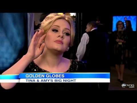 Adele - Golden Globe 2013 -  Interviews Backstage with Lara Spencer on ABC Part 2