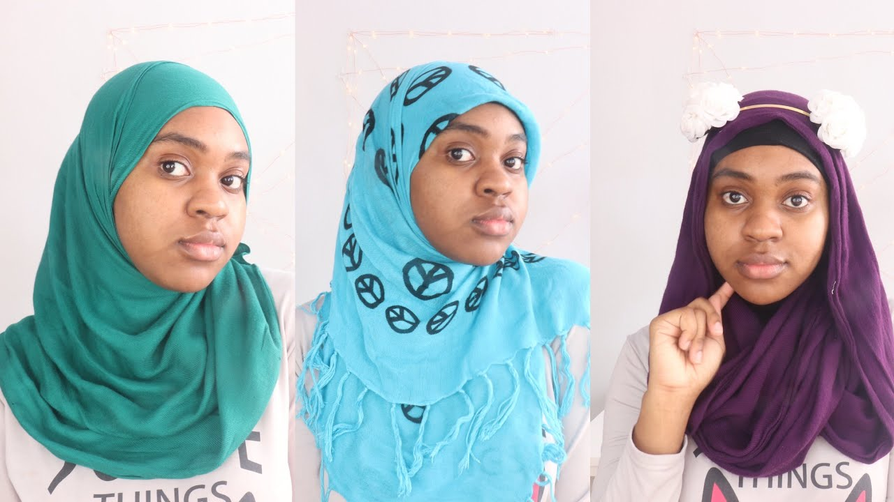 3 simple hijab styles for 2018 - hijab tutorial | hijab style - youtube