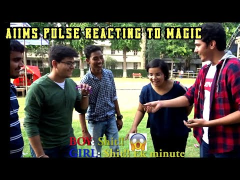AIIMS PULSE REACTING TO MAGIC | WARLOCK MAGIC | STREET MAGIC IN INDIA