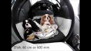 Pet Ego Pet Tube dog carrier - dog crate kennel review V dog harness