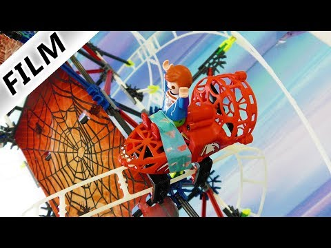 Playmobil Film Deutsch SPINNEN-ACHTERBAHN! JULIAN AUF TOTAL HEFTIGER ATTRAKTION! Familie Vogel