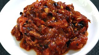 നാവിൽ കപ്പലോടും ചുട്ടെടുത്ത തക്കാളി തൊക്കു || Side Dish For Idli/Dosa/Rice || Shamees Kitchen