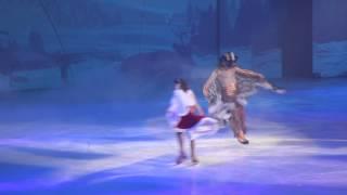 Brian Joubert and Irina Slutskaya. The Snow King. 3.I.2015 St.Petersburg