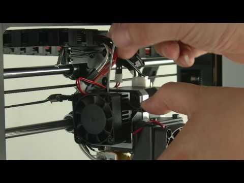 Monoprice select 3d printer Clean nozzle Jam