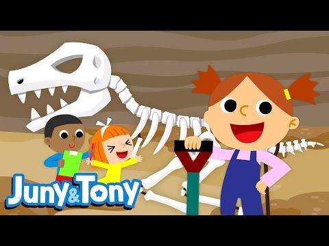Let's Dig, Dig, Dig! | Let's Look For Dinosaur Fossils! | Dinosaur Songs | Kids Songs | KizCastle
