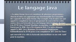 Apprendre Java - Introduction au language