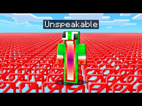 TRAPPED IN AN INVISIBLE MINECRAFT WORLD!