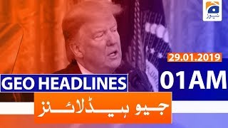 Geo Headlines 01 AM | 29th January 2020