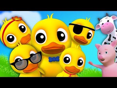 Cinque piccole anatre | rima in italiano | anatroccolo canzone | Five Little Ducks