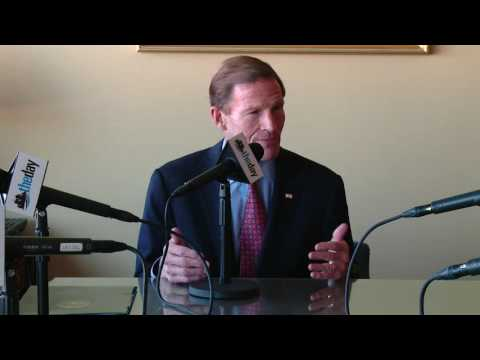 Richard Blumenthal endorsement interview at The Day