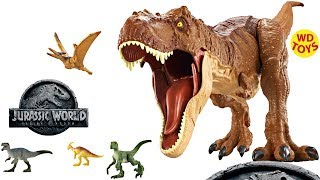 NEW JURASSIC WORLD 2 FALLEN KINGDOM DINOSAUR TOYS TOY FAIR 2018 INDORAPTOR T-REX MATTEL UNBOXING