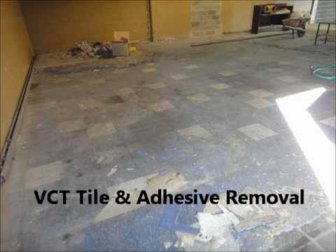 Vct Tile Adhesive Removal Calgary Edmonton Vancouver Youtube