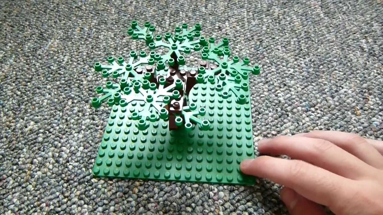 Lego Oak Tree Tutorial Youtube