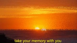 JUDY BOUCHER - TAKE YOUR MEMORY WITH YOU - with lyrics