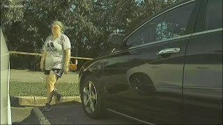 Woman caught on camera keying Tesla at Charlotte park