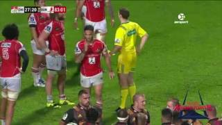 Sunwolves Red and Yellow card in overtime! 2017 Video