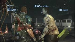 Resident Evil 6 PC No Mercy Rooftop Mission Solo 2786k!! Chris Redfield