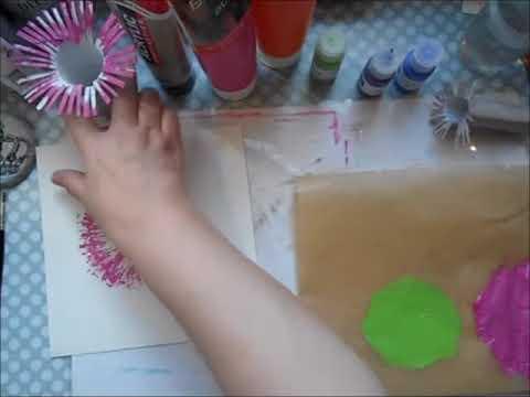 Kunstloft Acryl Gemalde Pompon Flowers 80x80cm Original