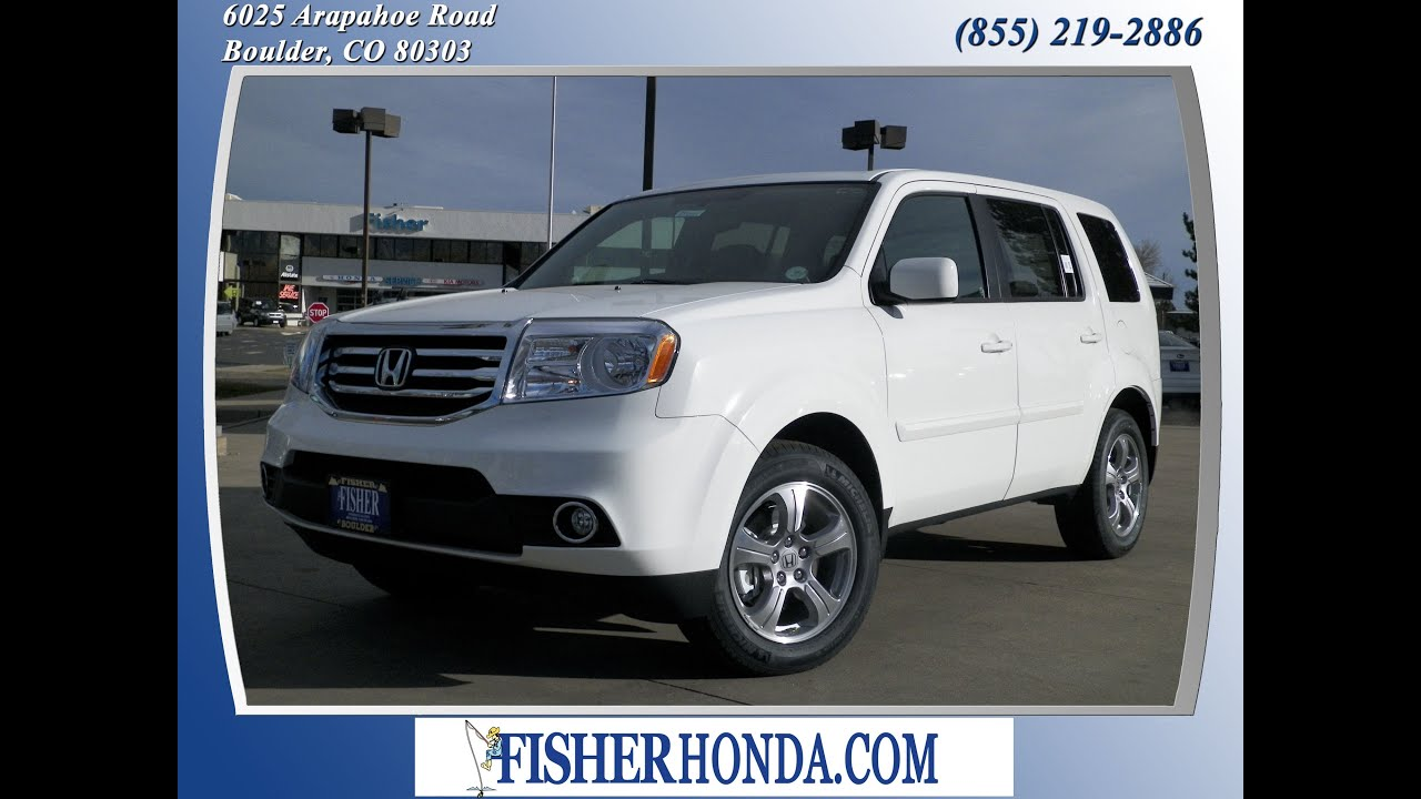 Delightful 2013 Honda Pilot EXL White | $37,350* | Boulder, Colorado | Fisher Auto  (Stock #135054)   YouTube