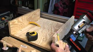 "How To Build A ""quick"" Table Saw Sled"