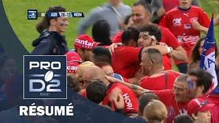 PRO D2 – Aurillac – Mont-de-Marsan : 28-13 – Demi-finale – Saison 2015-2016