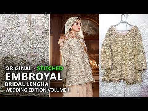 099cecff04 Emb Royal Collection - Stitched Royal Highness Bridal Lengha Pure Chiffon  and Dupatta