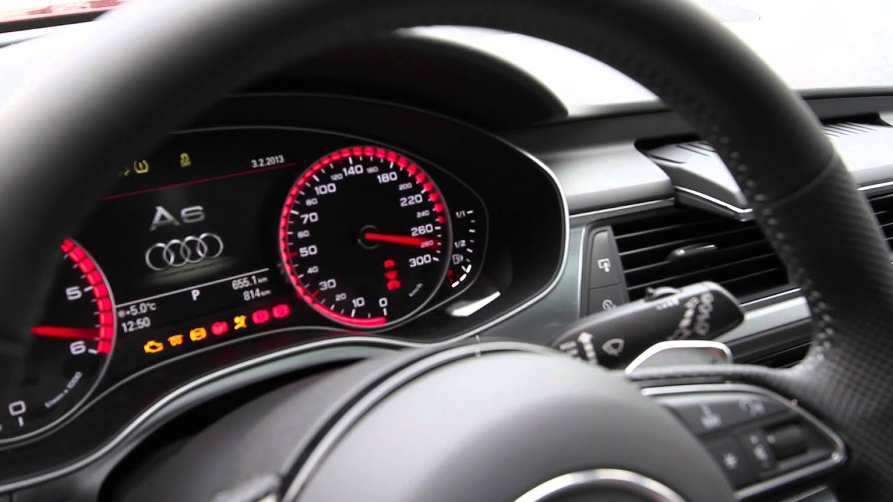 Audi A6 C7 Interior >> Needle Sweep Audi A6 C7 - YouTube