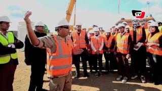 أعمال حفر أنفاق لربط الطريق الدولي الساحلي بشرق وغرب القناة