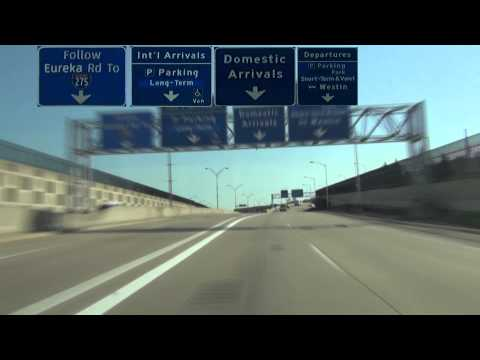 Detroit Metropolitan Wayne County Airport Freeway/Road Tour