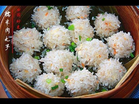 便当创意(6)糯米肉丸子Lunch idea(6)Rice meatballs