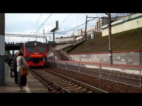 Прибытие электрички Новосибирск речной  вокзал