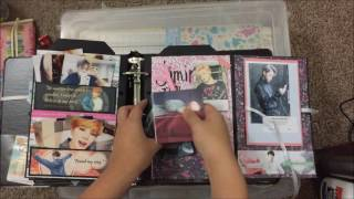 BTS-themed Mini Scrapbook
