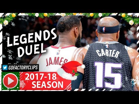 40 Yr-Old Vince Carter vs LeBron James LEGENDS Duel Highlights (2017.12.27) Cavs vs Kings - SICK!