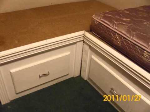L shape bed