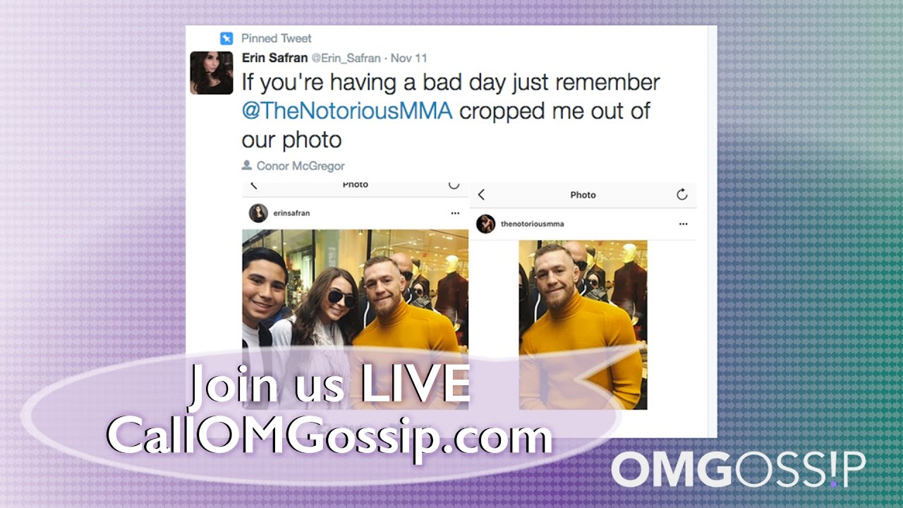 90bfc3375fb Conor McGregor Crops Fan Out of Photo ! - YouTube