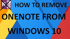 How to remove/uninstall Microsoft Onenote from windows 10