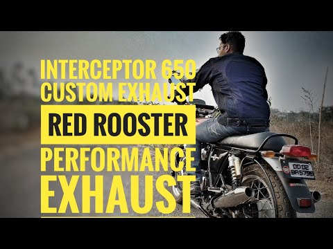 Unboxing Installation And Sound Of Red Rooster Exhaust For Royal