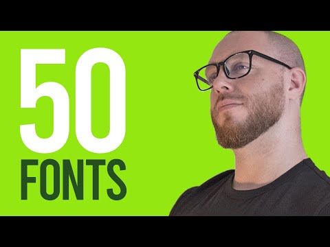 50 FONTS Your Designs Need!! (Free Downloads \u0026 How To Use Them)